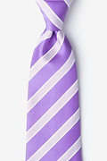 Purple Microfiber Jefferson Stripe Extra Long Tie