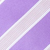 Purple Microfiber Jefferson Stripe Skinny Tie