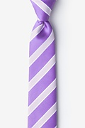 Jefferson Stripe Purple Skinny Tie Photo (0)