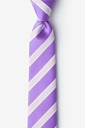 _Jefferson Stripe Purple Skinny Tie_