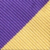 Purple Microfiber Purple & Gold Stripe Bow Tie
