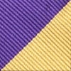 Purple Microfiber Purple & Gold Stripe Self-Tie Bow Tie