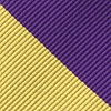 Purple Microfiber Purple & Gold Stripe Tie