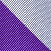 Purple Microfiber Purple & Silver Stripe Tie For Boys
