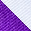 Purple Microfiber Purple & White Stripe Extra Long Tie