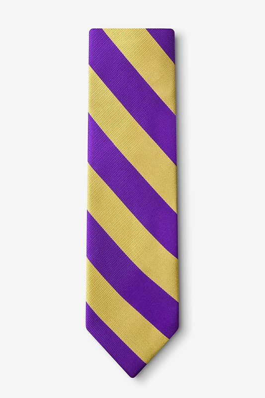 Purple & Gold Stripe Tie Photo (1)