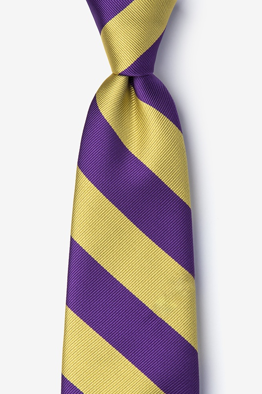 Purple & Gold Stripe Tie Photo (0)