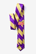 Purple & Gold Stripe Tie For Boys
