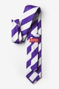 Purple & Off White Stripe Extra Long Tie
