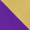 Purple Microfiber Purple And Gold Stripe Extra Long Tie