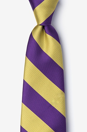 Purple And Gold Stripe Tie