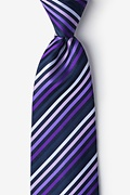 Purple Tonal Stripe Tie Photo (0)