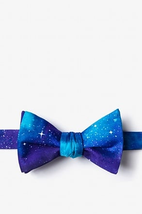 _The Cosmos Purple Self-Tie Bow Tie_