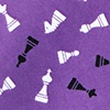 Purple Microfiber Tossed Chess Pieces Skinny Tie