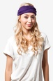 Purple Polyester Basic Stretchy Headband