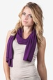 Purple Polyester Dakota Solid Scarf