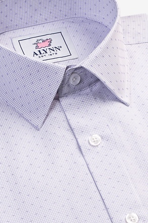 Evan Purple Classic Fit Dress Shirt