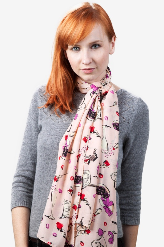 Valentine's Day Purple Scarf by Scarves.com