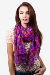 Purple Polyester Veronica Scarf