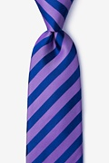 Purple Silk Bandon Extra Long Tie