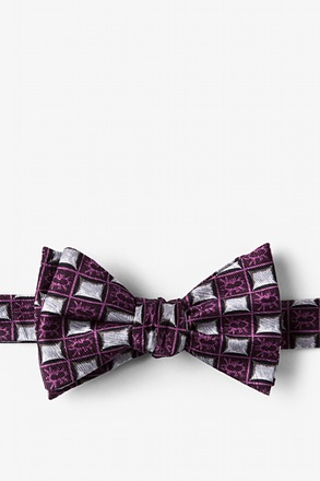 Bed Bugs Purple Self-Tie Bow Tie