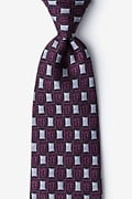 Purple Silk Bed Bugs Tie