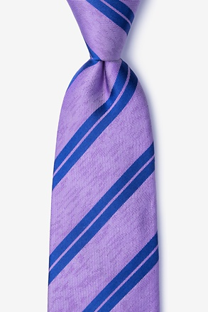 _Blackwater Purple Extra Long Tie_