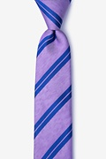Purple Silk Blackwater Skinny Tie