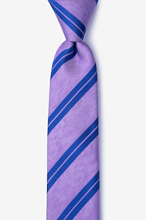 _Blackwater Purple Skinny Tie_
