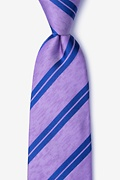 Purple Silk Blackwater Tie