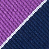 Purple Silk Fane Extra Long Tie