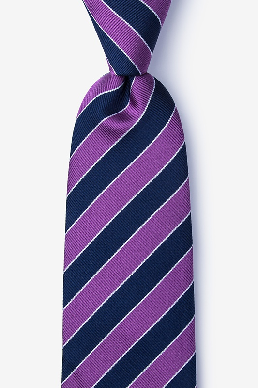 Fane Purple Extra Long Tie Photo (0)