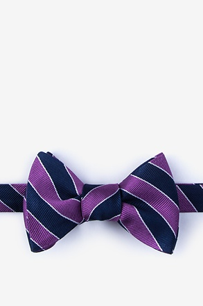 Fane Purple Self-Tie Bow Tie