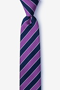 Purple Silk Fane Skinny Tie