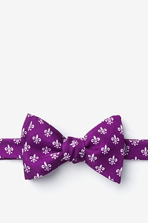_Fleur Crazy Purple Self-Tie Bow Tie_