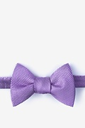 Purple Silk Goose Self-Tie Bow Tie