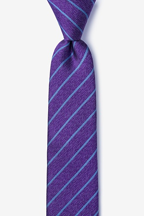 Lagan Purple Skinny Tie