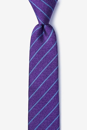 _Lagan Purple Skinny Tie_