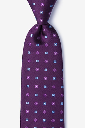 _Monkey Purple Extra Long Tie_