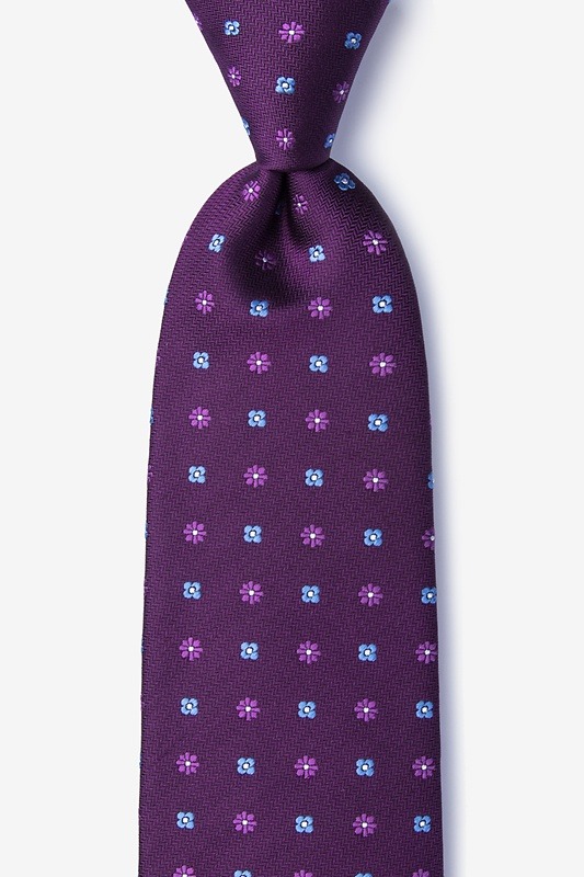 Monkey Purple Extra Long Tie Photo (0)