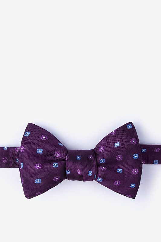 Monkey Purple Self-Tie Bow Tie Photo (0)