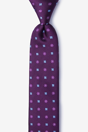 _Monkey Purple Skinny Tie_