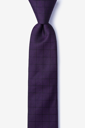 _Red Hill Purple Skinny Tie_
