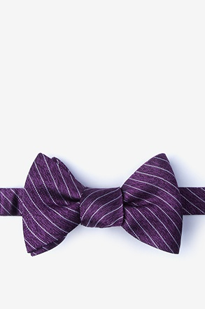 _Robe Purple Self-Tie Bow Tie_