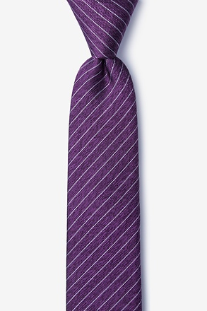 _Robe Purple Skinny Tie_