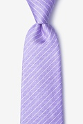 Purple Silk Robe Tie