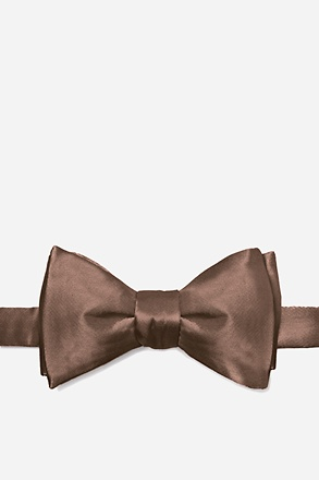 Raw Umber Butterfly Bow Tie