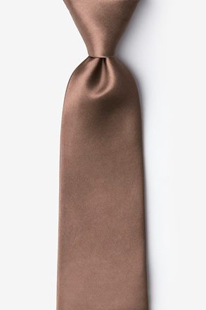 Raw Umber Extra Long Tie