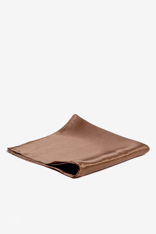 Raw Umber Pocket Square