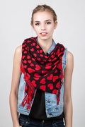 Hearts Red Pashmina by Scarves.com